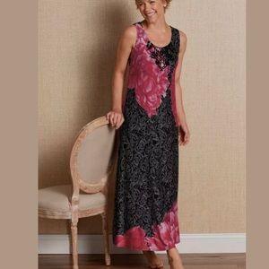 Soft Surroundings Maxi Dress Sleeveless Midnight